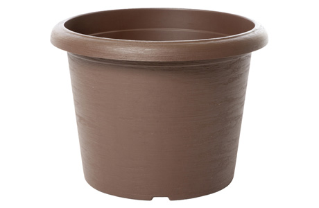 E-terrae Vaso Cilindro 20 Marrone Light
